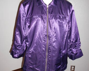 Chico's women's purple jacket size 3