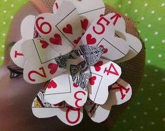 Playing Card Hair Flower