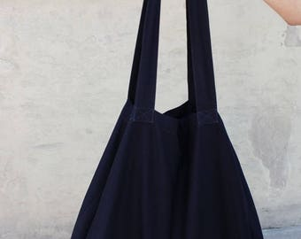 Black shopper bag Handmade