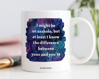 I Know The Difference Between Your and You're Mug, Gift for Her or Him, Sarcastic Mug, Funny Grammar Mugs, Coffee Mugs, Gift for Friend