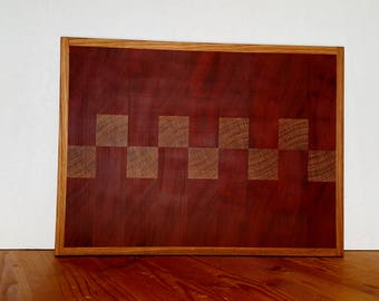 African Mahogany and Hard Maple Cutting Board