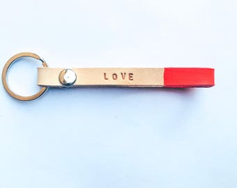 Personalised leather key chains