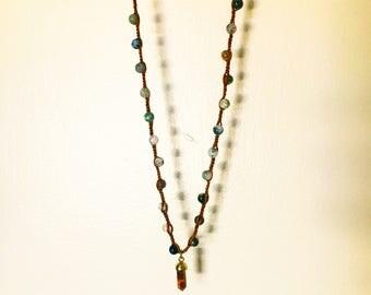 Avila Rocks Necklace with Topaz Pendant