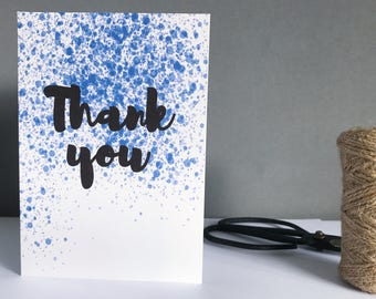 Thank you card - Thank you note - Thanks so much card - Say thank you - Modern thank you card - Thanks note - Say thanks