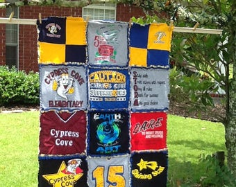 Deposit for a Customized RAG Quilt made out of your T-Shirts