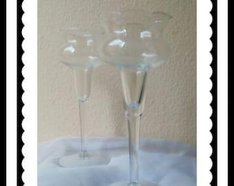 Vintage Princess House Glass Candle Sticks