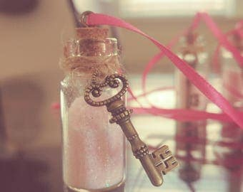 Fairy Dust Necklace with Vintage Key