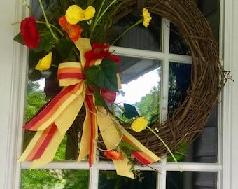Sunshine Vine Wreath