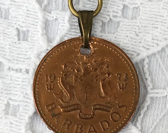 Barbados Coin Pendant Necklace