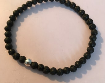 1 4mm lava beaded bracelet!
