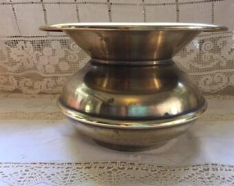vintage brass spitoon