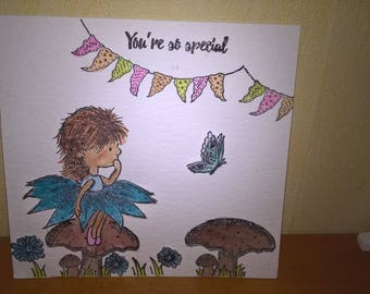 You're so Special Whimsical Handmade Card