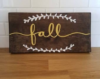 Fall Wooden Sign - Ready to ship!