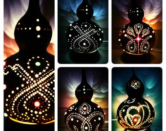 Zen in Light - gourd lamp
