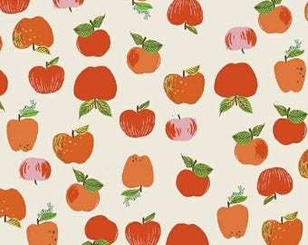 PREORDER - Heather Ross - Apples in Red - Kinder - (43483-2) - 1/2 Yard++