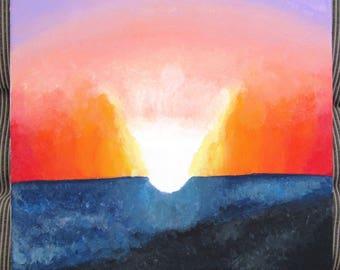 Beach Sunset Acrylic Painting