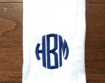Burp Cloth, Monogrammed Burp Cloth, Personalized Burp Cloth