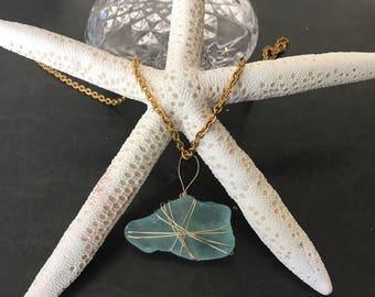 authentic sea glass pendant