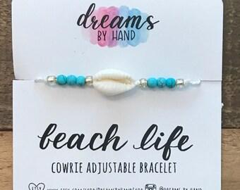 Cowrie Shell Adjustable Bracelet