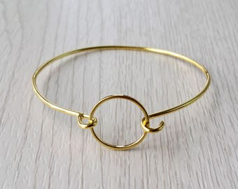 Ladies bracelet, circle bracelet, geometric bracelet, minimalistic bracelet, womens bracelet, delicate bracelet, geometric silver jewelry
