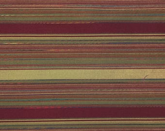 Designer Woven Burgundy Stripe - Eastern Accents Fabric