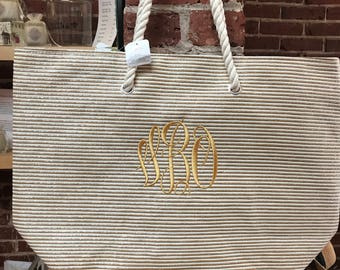 Monogrammed Beach Totes