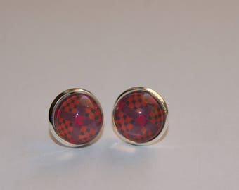 Stud Earrings 12 mm cabochon