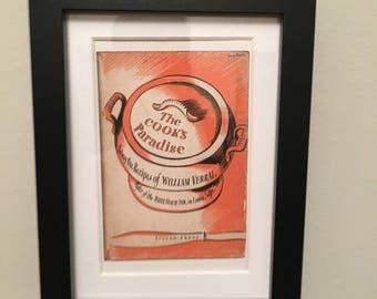 Classic Cookery Book cover print- framed - The Cooks Paradise