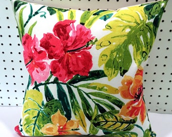 Alipate Summer Outdoor Pillow Cover, Big Floral Pillow Cover, Outdoor  Decorative Pillow, 18x18