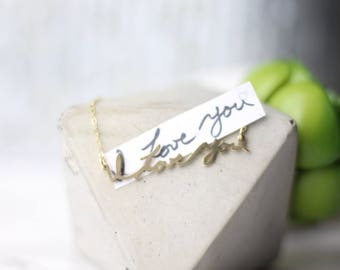 Actual Handwriting Necklace, Memorial Signature Necklace, Actual Handwriting Necklace, Personalized Necklace, Bridesmaid Gift, Gift For Her