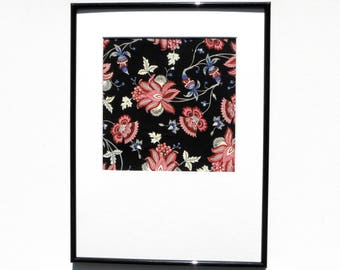 "Original Gouache/watercolor/ink, ""Indian flowers"" painting, frame and goes everywhere including"