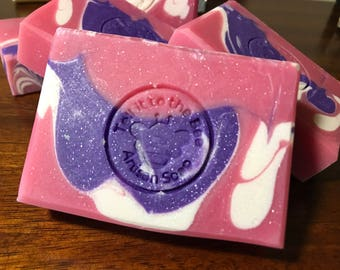 Unicorn Bubbles - Artisan Soap made with Coconut Oil & Sweet Almond Oil | Happy Scented Bath Body Soaps ~ Shower Bath Wash