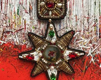 """Art brooch """"My Sicily"""""""