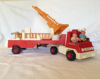 Fisher Price Fire Truck Hook and Ladder 1978