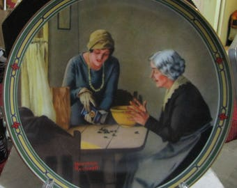 Art Plates -Norman Rockwell - vintage Plates -Art 1986