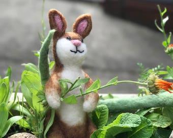 Felted bunny.