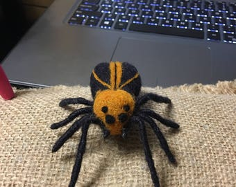 Needle Felted Wool Halloween Spider