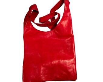 Hobo leather handbag