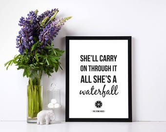 Stones Roses Quotes, Music Quotes, Music Prints, A4 Print, Prints