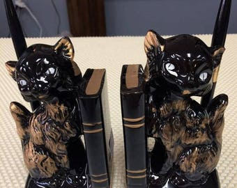 Made in Japan Cat Book Ends