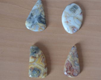 cabochon gemstone jewelery creation crazy lace agate