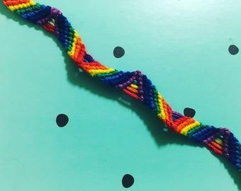 Rainbow Zig Zag Friendship Style Bracelet