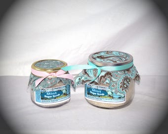 8 oz Organic Mint Sugar Scrub - Comfort for Headaches & Stomach Disorders, Exfoliating, Improves Skin Tone and Complexion