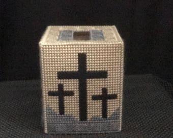 Cross tissue box cover