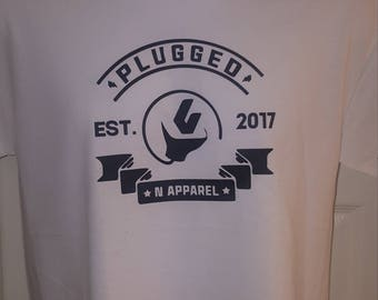 PLUGGED N T-SHIRT w/established 2017