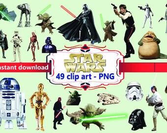 INSTANT DL- 49 Star Wars - clip art - Scrapbooking , Instant Download