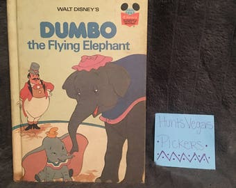 1978 Dumbo the Flying Elephant Disney Book