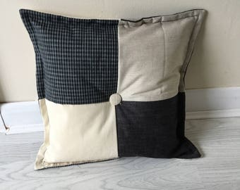 Neutral Patchwork Handmade Cushion Cover
