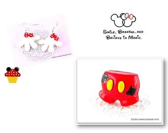 Finery rings pair of shorts and earrings gloves Mouse Magique M