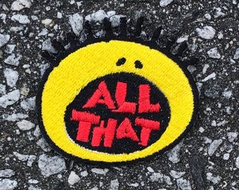 All That  Embroidered Sew On Iron On Patch DIY Emojis